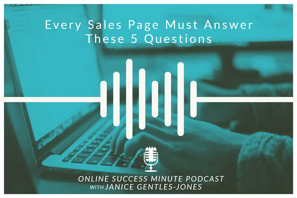 OSM #4: Every Sales Page Must Answer These 5 Questions